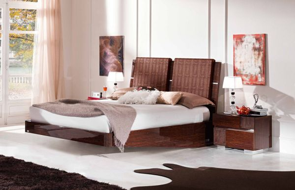 Colorful and vivid bedroom with a classy floating bed