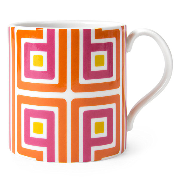 Colorful geometric mug
