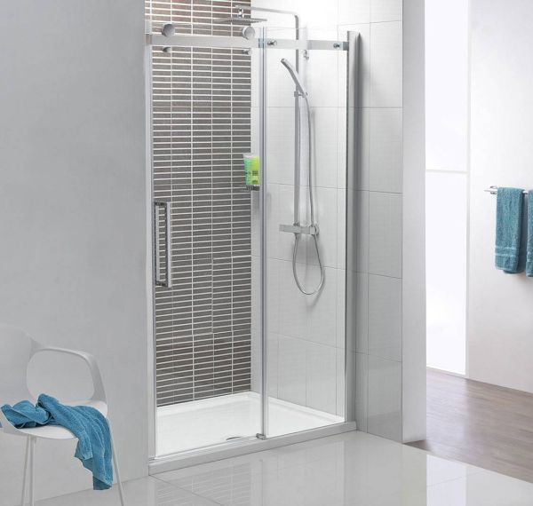 Sliding door shower enclosures for the contemporary bathroom for Bathroom entrance doors