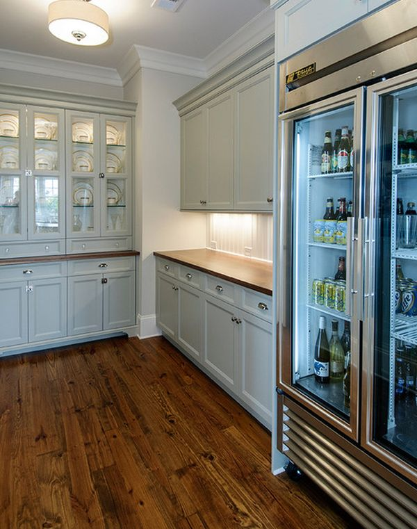 Cool glass door refrigerator filled with beer perfect for a mancave