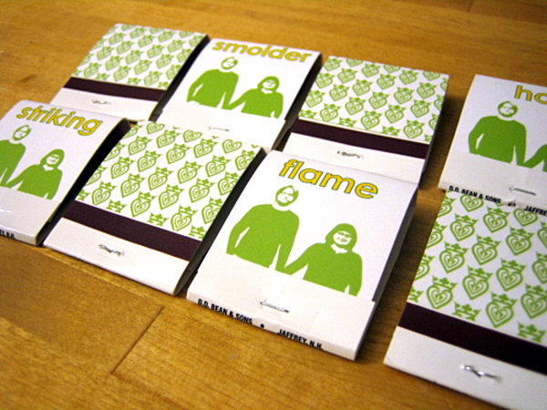 Customized matchbook covers