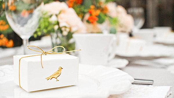 DIY bird favor boxes
