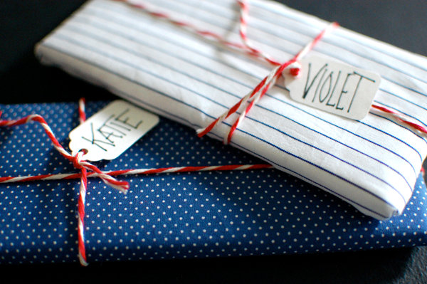 DIY fabric-wrapped chocolate bars