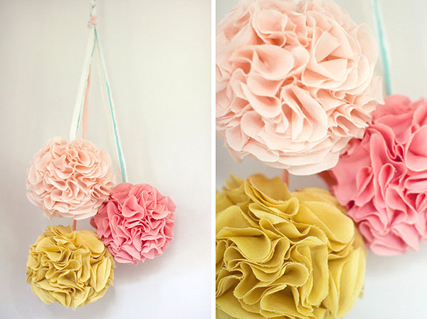 DIY hanging wedding decoration