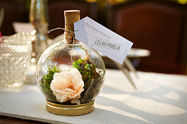 DIY terrarium wedding favor idea