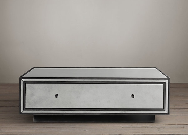 Deco-style mirrored coffee table