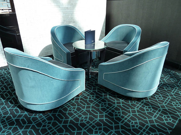 Deco-style tub chair