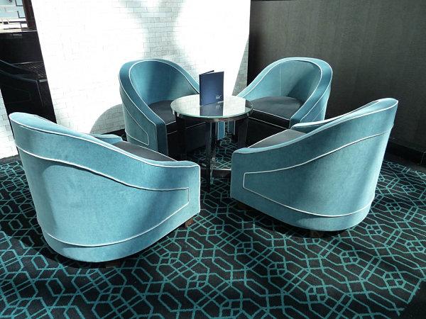 Deco-style tub chair
