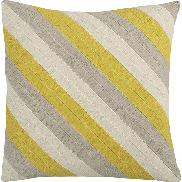 Diagonal striped pillow