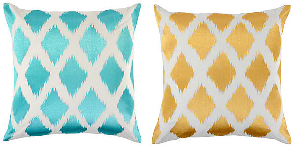 Diamond ikat pillows from Z Gallerie