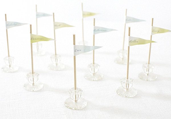 Drawer knob place card holders