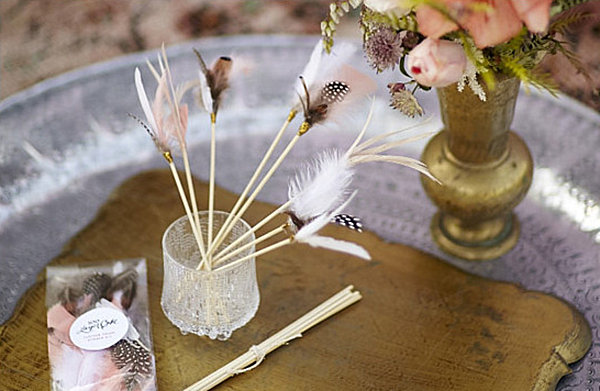 Feather-topped drink stirrer DIY project