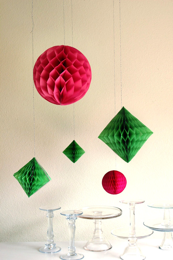 Geometric honeycomb decor