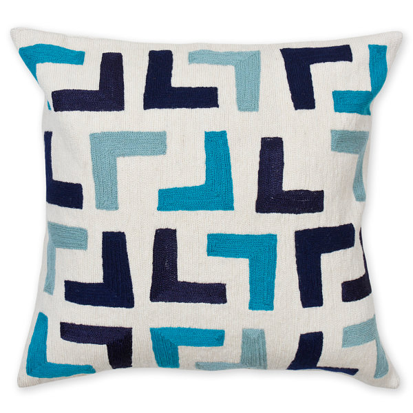 Geometric pillow by Jonathan Adler