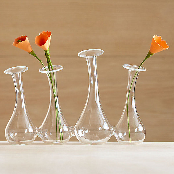 Glass bud vase system
