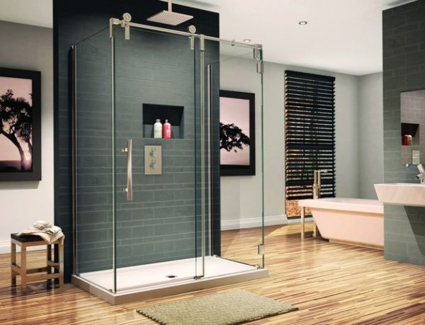 Contemporary Bathroom Showers sliding door shower enclosures for the contemporary bathroom