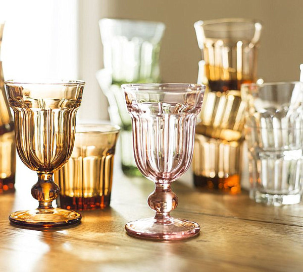 Glassware in warm tones
