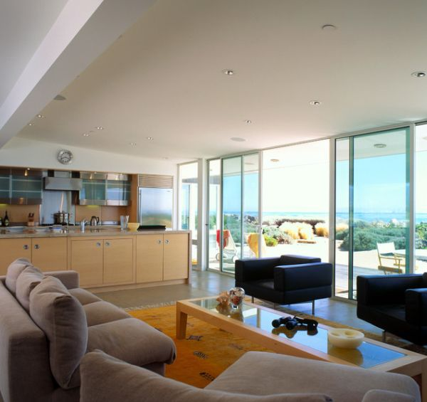 Gorgeous beach house with sliding glass doors for ample views