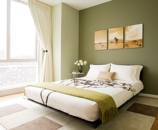 Graceful and stylish floating bed can help lighten up the interiors of a small bedroom