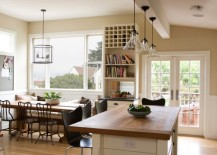 Logico Pendant Lights Over The Kitchen Island Look Like Floating Pieces Of  Modern Art