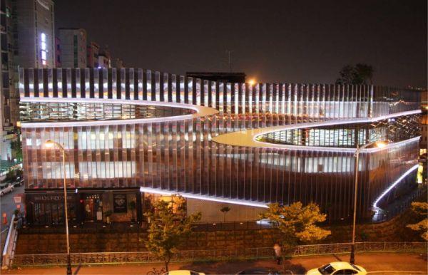Herma Parking Building - Night view