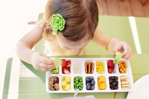 Ice cube tray serving idea
