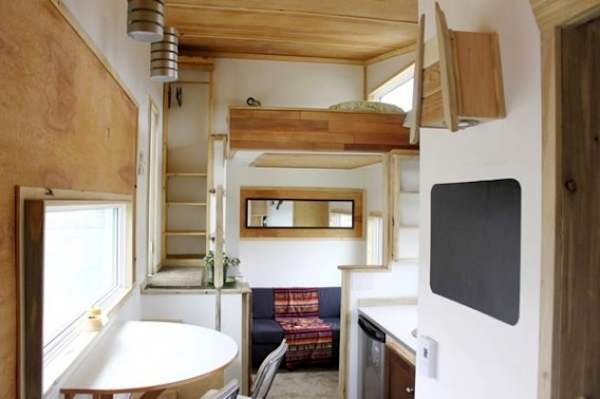 Interior of Leaf House on wheels
