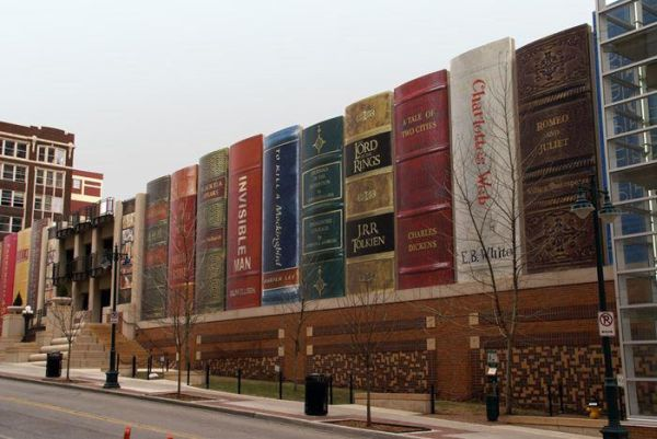 Kansas City Public Library's Community Bookshelf Parking
