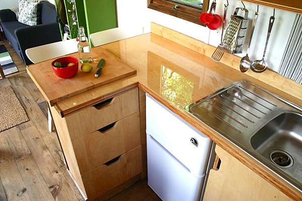 view in gallery kitchen of the tiny house on wheels - Largest Tiny House On Wheels