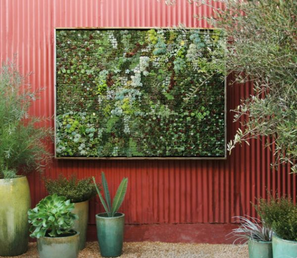 View In Gallery Living Wall Planter Perfect For Small Gardens