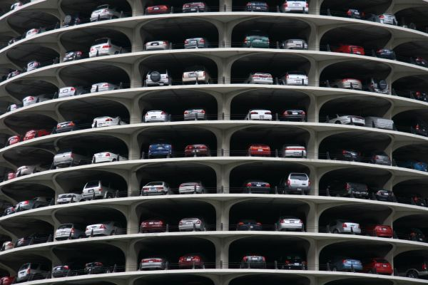 Marina City in Chicago- Parking space in the towers