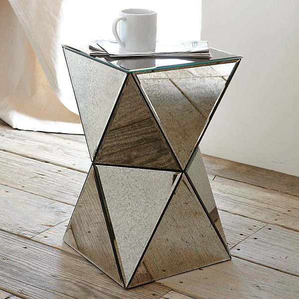 View in gallery Mirrored side table