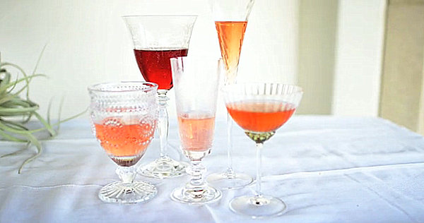 Mix and match glassware for colorful spring entertaining