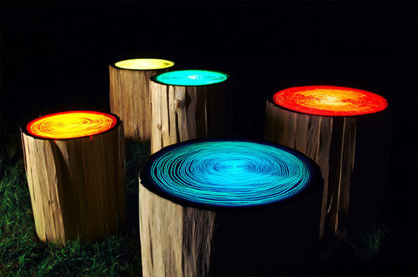 Modern Tree Trunks uses 1 Inspired by Nature: Artistic Functionality of Reclaimed Wood Stumps