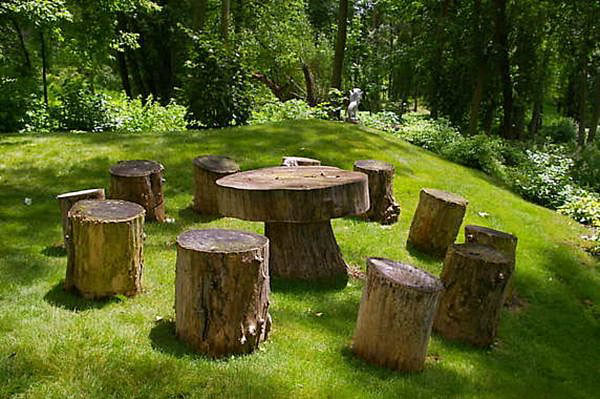 Artistic Functionality of Reclaimed Wood Stumps