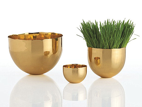 Modern brass bowls