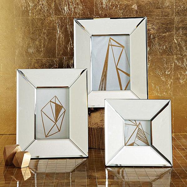 Modern mirrored frames