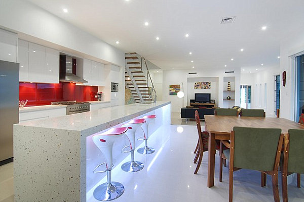 Kitchens With Neon Lighting - Lights under kitchen island