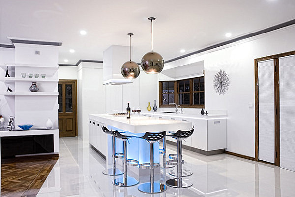 Kitchens With Neon Lighting - Lighting for kitchen bar