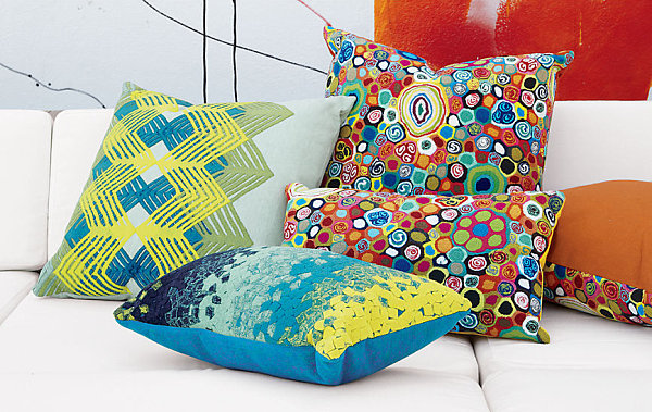 New spring pillows from CB2 New Throw Pillows for Spring