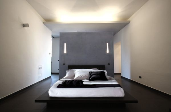 Open bedroom design with a minimalist touch