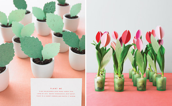 Plantable DIY wedding favors