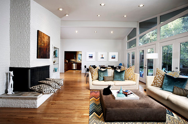 Sleek corner fireplaces with modern flair for Einrichtungsideen wohnzimmer modern
