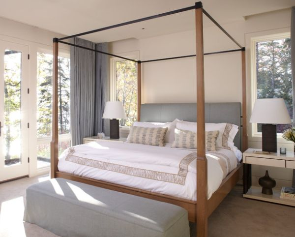 Resort-like bedroom in neutral shades