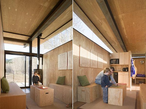 Rolling huts interior