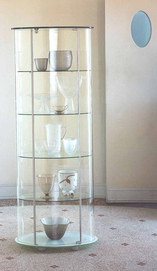 View In Gallery Round Glass Cabinet