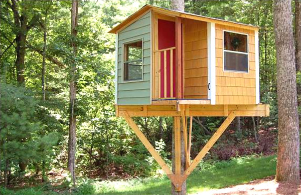 Tree house plans to build for your kids for Treehouse designers