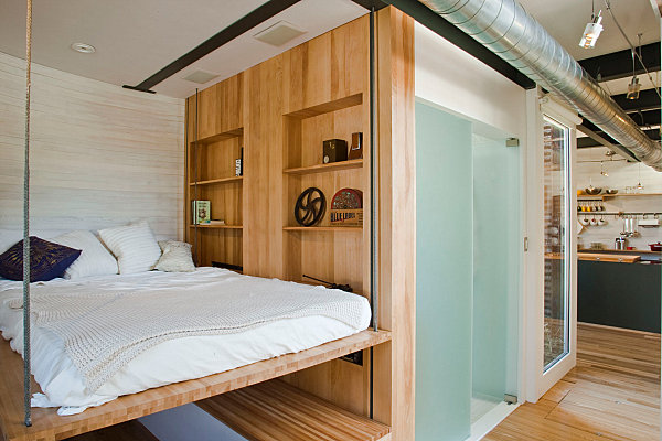 Silo House bedroom