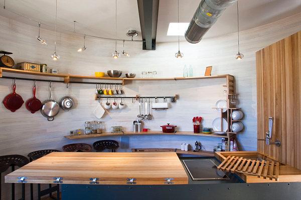 Silo House kitchen