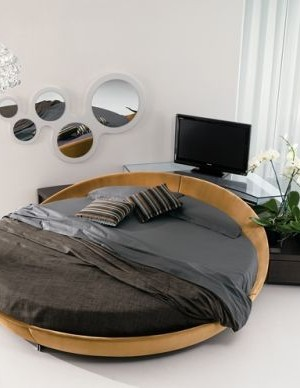 Simple and elegant way to use the circle bed in a modern home